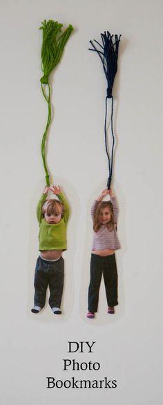 Lesezeichen aus Kinderfotos | Geschenk für Paten, Großeltern, etc. | DIY photo bookmark craft