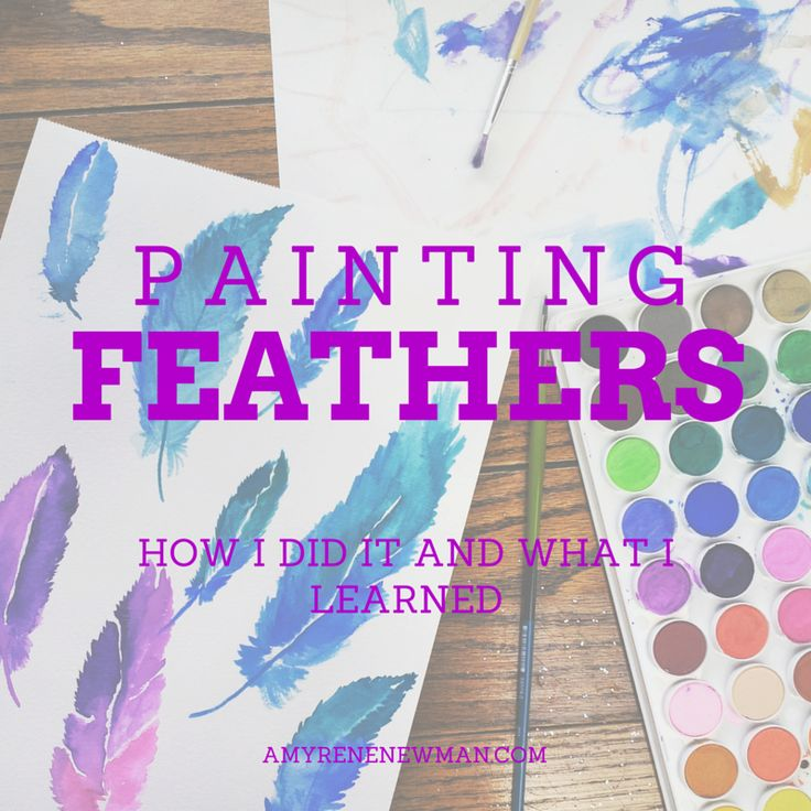 How (and why) I Painted My First Watercolor Feathers at 4am