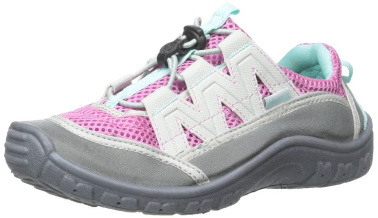 Northside Brille II Water Shoe (Toddler/Little Kid/Big Kid), Lilac/Aqua, 2 M US Little Kid. Water shoe featuring breathable mesh upper and lace-up vamp with lace keeper. Padded tongue and collar.