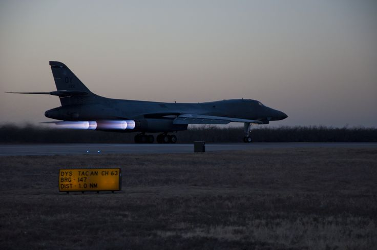 1st newly upgraded operational B1-B Lancer prepares to take flight Jan.21,2014,Dyess AFB,Texas.B-1B Lancer recently upgraded with new Integrated Battle Station.IBS combination of 3 different upgrades,which include Fully Integrated Data Link,Vertical Situation Display upgrade,& Central Integrated System upgrade.Developmental testing was conducted at Edwards AFB, Calif. & 337th Test & Evaluation Squadron will now began operational testing at Dyess.(USAF Staff Sgt.Richard Ebensberger)
