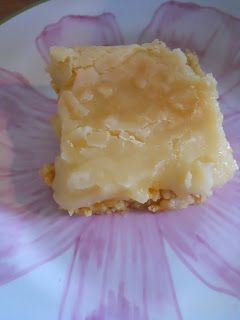 Ooey Gooey Butter Bars ~ It's our little secret that they are made with boxed cake mix.--a great backup recipe--easy, cheap, very good