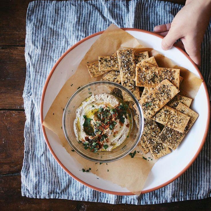 Za'atar-Spiced Chickpea Crackers with Maldon Sea Salt   food52.com/recipes/28121-za-atar-spiced-chickpea-crackers-with-maldon-sea-salt