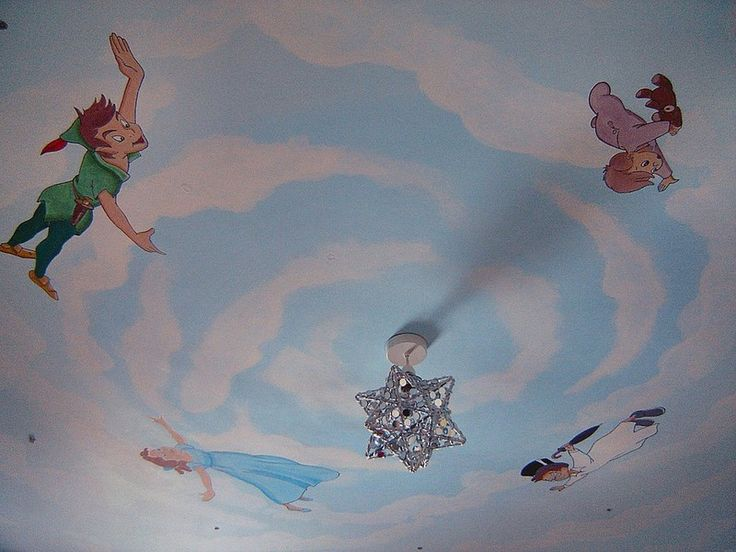 Peter Pan Ceiling mural