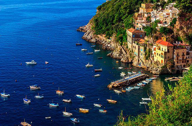 HIDDEN GEMS OF THE AMALFI COAST - Un-touristy beaches, hotels, etc. Includes: Conca dei Marini (quaint fishing village), MONASTERO SANTA ROSA (converted monastery hotel), PRAIANO (fishing village with best sunset views of the coast), coastal vineyards