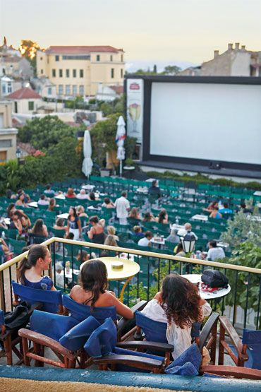 Open air cinema, Athens