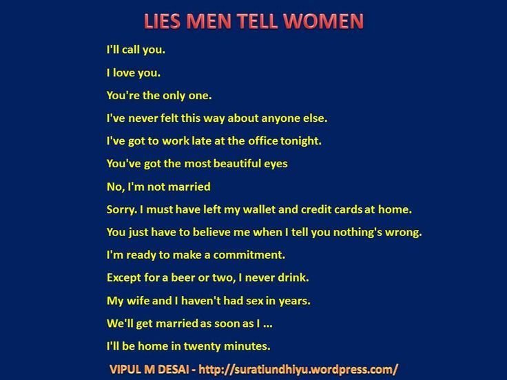 Lies guys tell about sex