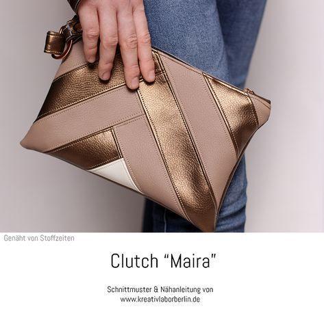 """Clutch """"Maira"""" genäht von Stoffzeiten #Clutches #EveningBags"""