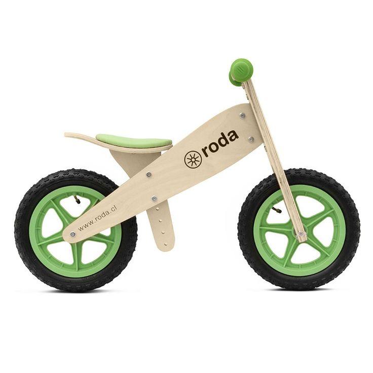 2 a 5 años La Bicicleta para niños Roda es una bici de madera sin pedales exclusivamente diseñadas para que...
