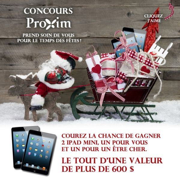 Concours Proxim 2 iPad Mini à GAGNER