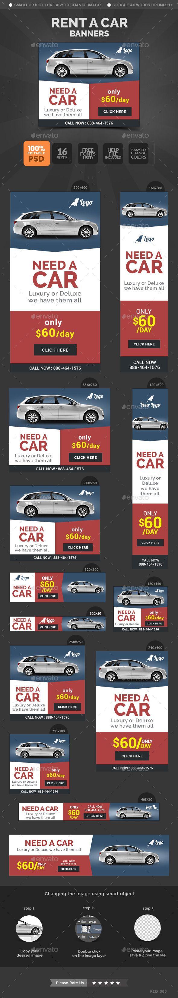 Car rental banners