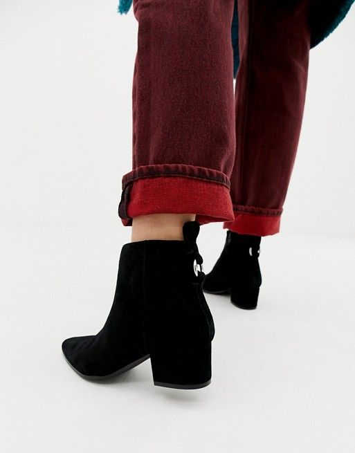 17a7a298fc4 Steve Madden Clover black suede ankle boot in 2019 | s | Suede ankle ...