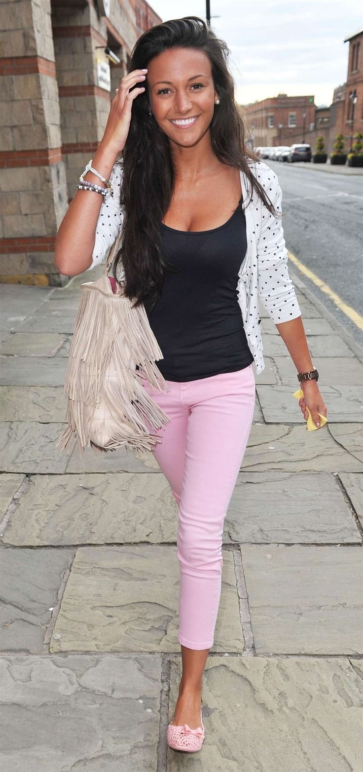 Simple and cute for summer. Michelle Keegan