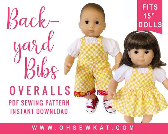 Baby Doll Clothes Sewing Pattern For 15 Inch Baby Doll Etsy Baby Doll Clothes Clothes Sewing Patterns Making Baby Clothes
