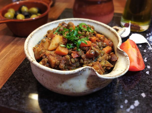 Traditional Spanish Lentils These are a true taste of  Spain. One of the staples of Spanish cooking. From Mouthwatering Vegan.