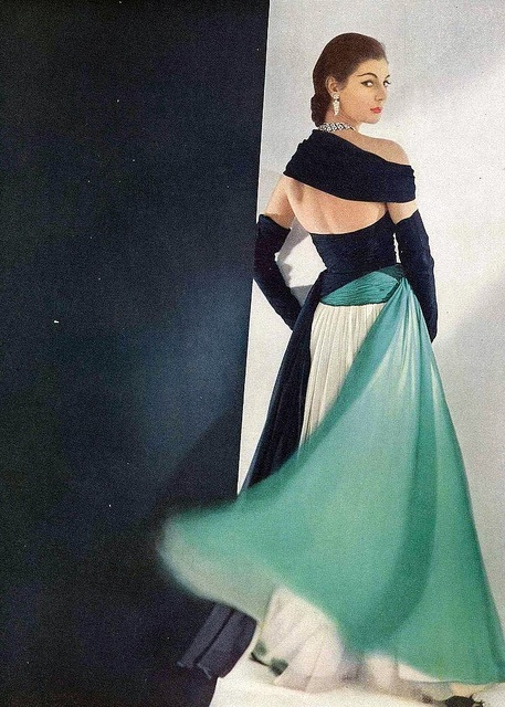 Jean Desses  Evening Dress Photo by Horst for Vogue April1952