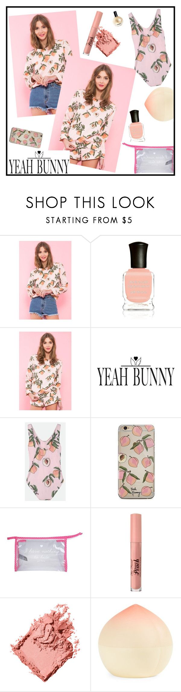 """YEAH BUNNY contest with prize!-90$ gift coupon"" by alignmentmag ❤ liked on Polyvore featuring Deborah Lippmann, Yeah Bunny, Too Faced Cosmetics, Bobbi Brown Cosmetics, Tony Moly and YeahBunny"