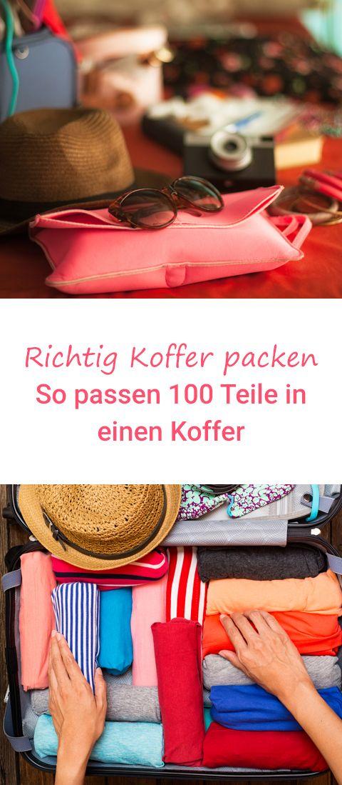 Kein Witz, so bekommst du 100 Teile in einen Koffer! #reisen #reisetipps