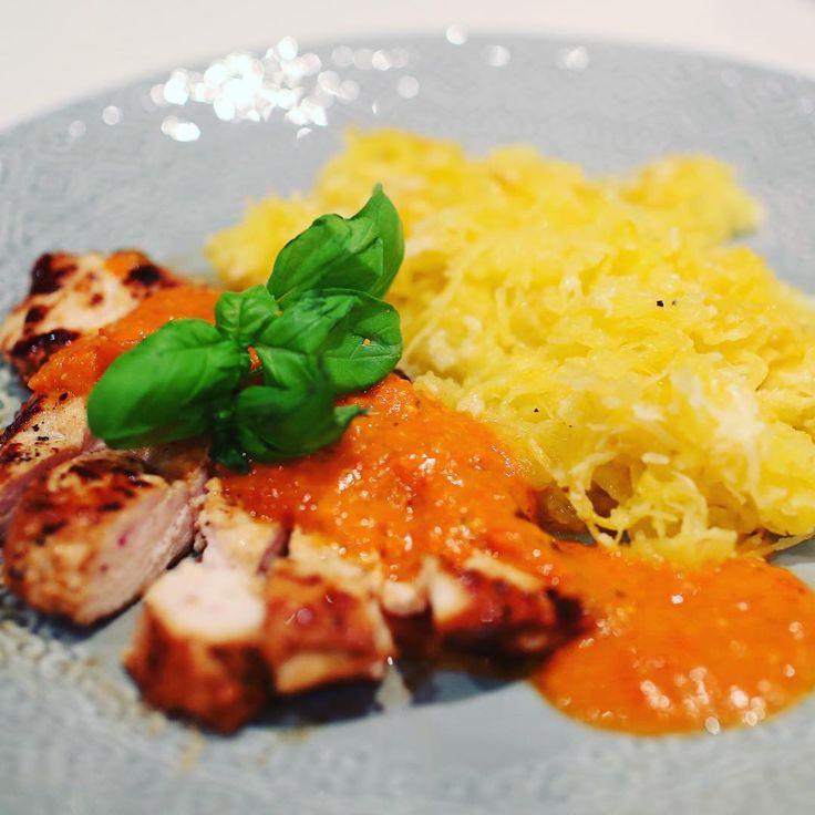 Simpel as that Tamarimarinerad kyckling med spaghettipumpa med smr ochhellip
