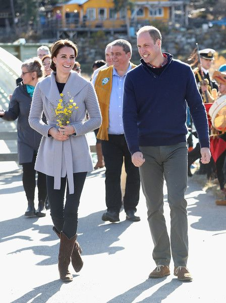 Catherine, Duchess of Cambridge and Prince William, Duke of Cambridge visit Carcross during the Royal Tour of Canada on September 28, 2016 in Carcross, Canada.