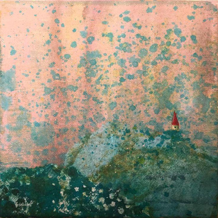 Highland - 20x20cm #annabies #art #annasagok #mixedmedia #painting