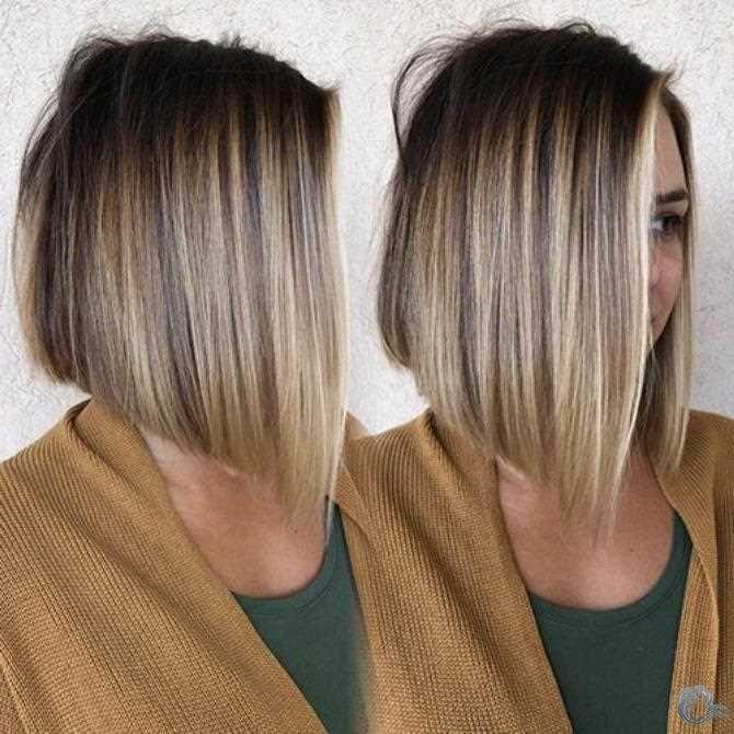 Haarfarbe braun blond kurzhaar