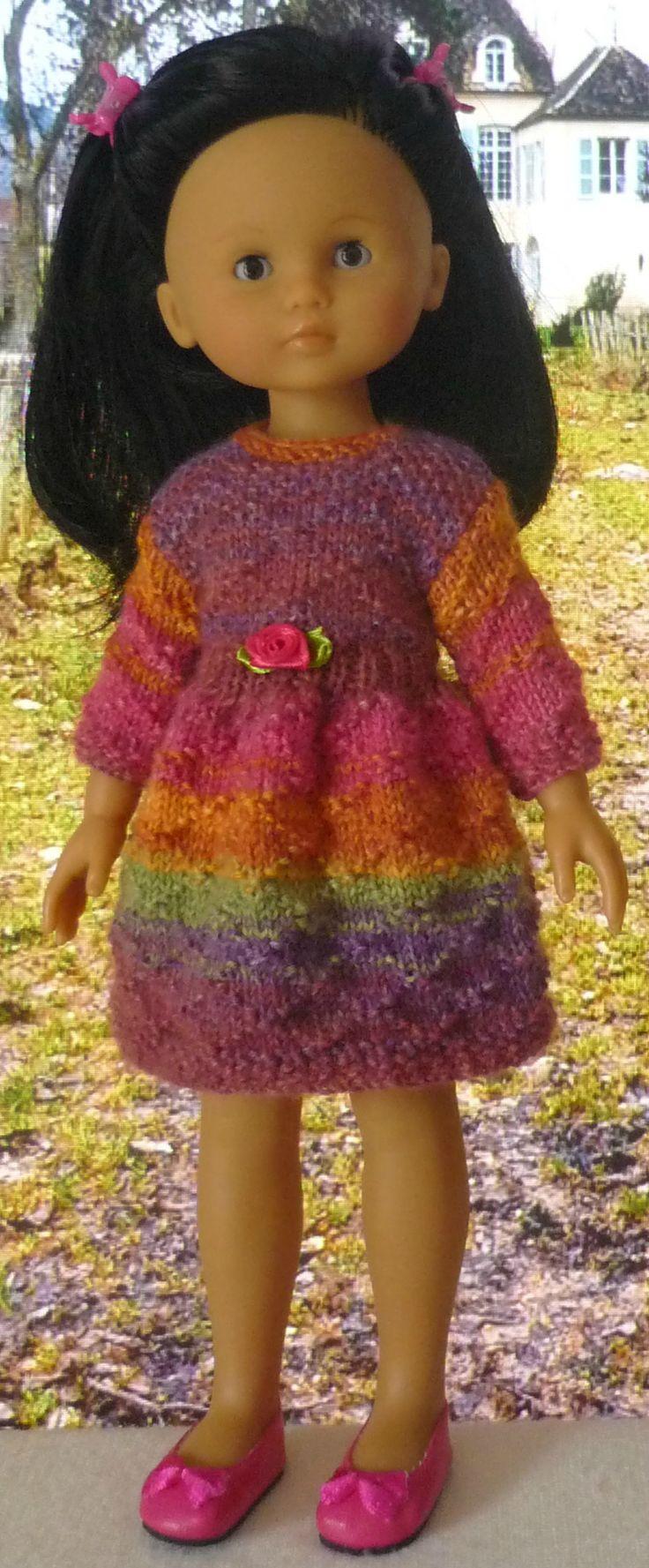 Robe pour poupée Chérie (Adaptation du modèle de Nathalie du blog « Histoires de Poupées » du 20/01/2016): 1) http://marieetlaines.canalblog.com/archives/2016/02/24/33370995.html 2) http://p5.storage.canalblog.com/54/50/1066432/109106424.pdf