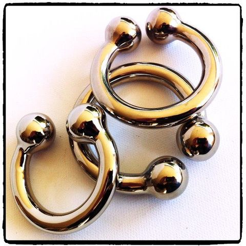 Lady Kink - Big Eros Cock Cuffs R 750.00  Beautiful highly polished stainless steel cock cuff with ball detail.