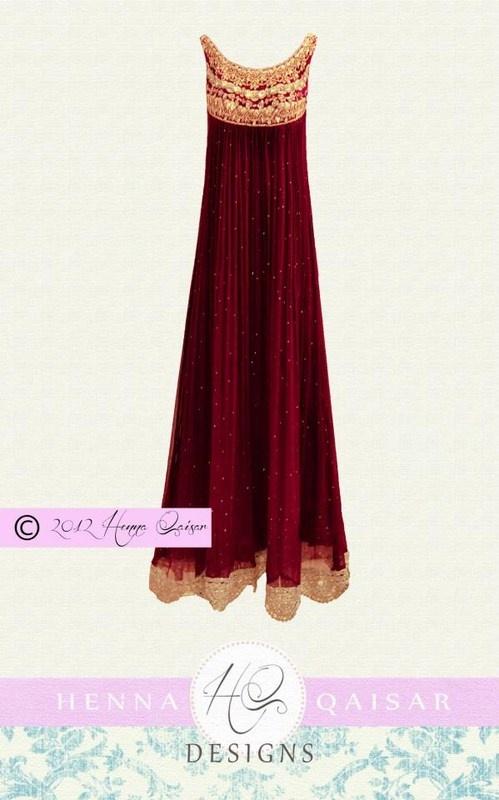 Latest Stylish HQ Designs Formal Wear Dress 2012-13 For Girl (1)