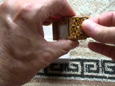 Mame 18 Step Yosegi Japanese Puzzle Box by Yoshio Okiyama !