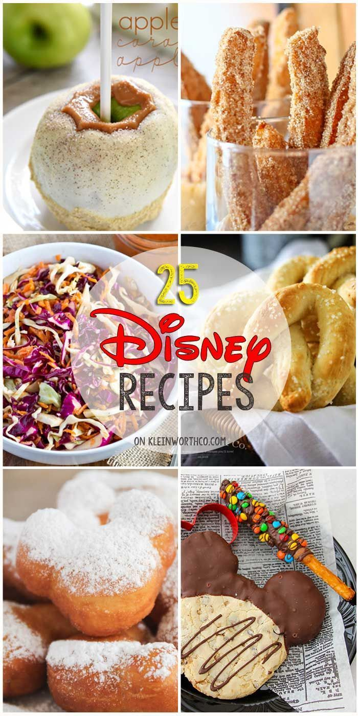 25 Disney Inspired Recipes from all your favorite places in the park. If you love Disney food & recipes, you will love all these inspired dishes. Dig in!