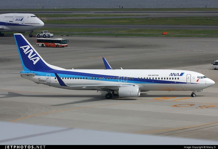 ANA Airways (All Nippon Airways) (JP) Boeing 737-881(WL) JA52AN aircraft, with the sticker ''Air Nippon'' on the fuselage & ''a red feather'' sticker on the nose, rolling at Japan, Tokyo Haneda Int'l Airport. 13/10/2008. (The red feather refers to highlight an ongoing charity campaign by ANA & means ''good luck'').