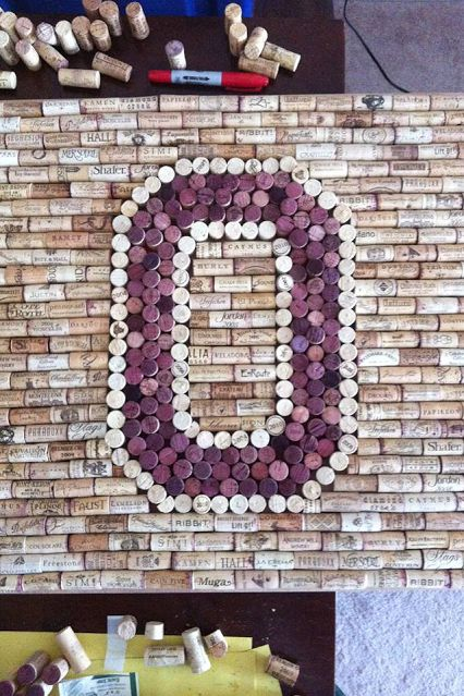 OSU Wine Cork Idea. Maybe OSU is one person's idea, but I could make a big Green or Yellow O for Univ of OREGON!