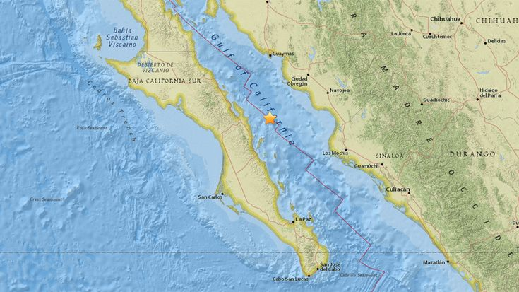 A 6.3 magnitude earthquake, first estimated at 6.6, has struck the east coast of the Mexican state of Baja California, the United States Geological Survey (USGS) has reported.