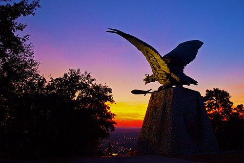 Turulszobor Tatabánya / Turul Monument at Tatabánya, Hungary