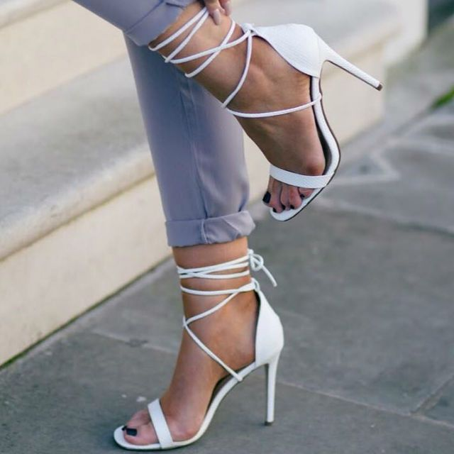 Click Image For All The Secrets To Attract Women! Barely There High Heel Lace Up Sandals