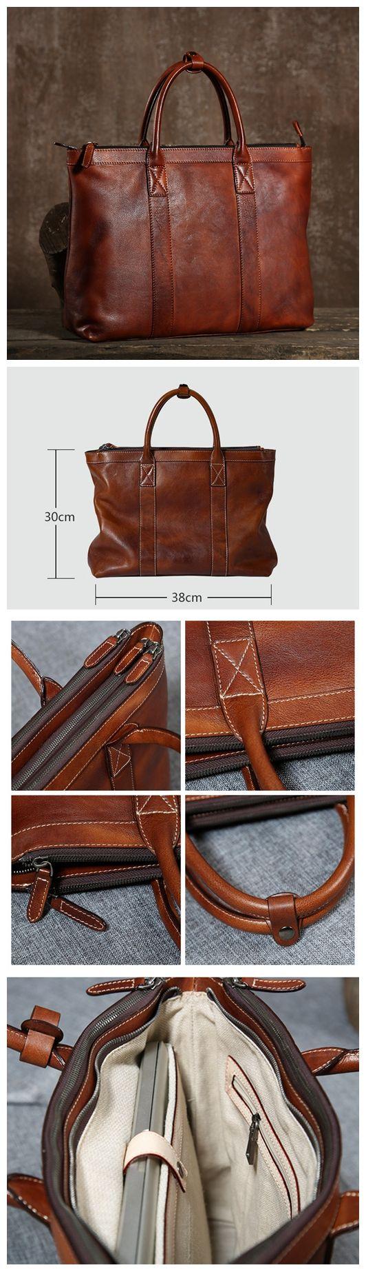 Handmade Leather Briefcase, High Quality Business Bag, Leather Laptop Bag GLT003