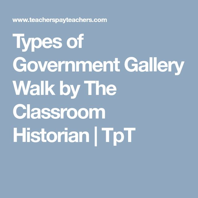 Types of Government Gallery Walk by The Classroom Historian | TpT