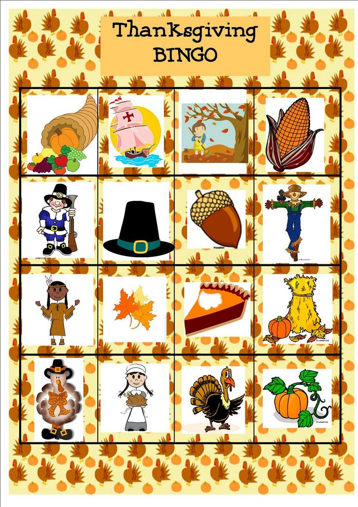 Here is a fun and easy game to play with / occupy the kids on Thanksgiving. Print out the Thanksgiving BINGO Game boards and cards and use b...