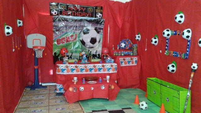 Decoracion de fiesta deportiva vane pinterest fiestas for Decoracion deportiva
