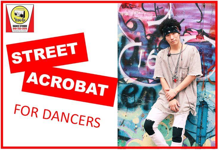 木曜19時半「STREET ACROBAT」ダンススタジオならではの、体操教室では教えてくれないストリート系の技を取得して行きます!ダンス経験者もモチロン!未経験者でバク転がしたい!新しい技を覚えたい!やりたい気持ちだけで準備OK!まずは、お気軽に体験にお越しください!お待ちしています!踊ることが、好き。埼玉県川口市のダンススタジオ「Tune in DANCE STUDIO」初心者から経験者の方、プロとして活躍されている方までダンスを楽しみながら上達できるクラスが充実!埼玉川口、鳩ヶ谷、草加、戸田、蕨、浦和、大宮、川越等、幅広い地域の生徒様。発表会も豊富!体験レッスン受付中。TEL:048-255-2979 埼玉県川口市青木5-18-30