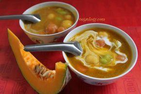 Pumpkin Coconut Milk Glutinous Rice Balls