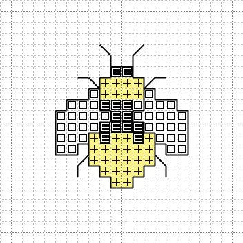 Cross Stitch Mania: Free Bee Cross Stitch Mini Motif Chart