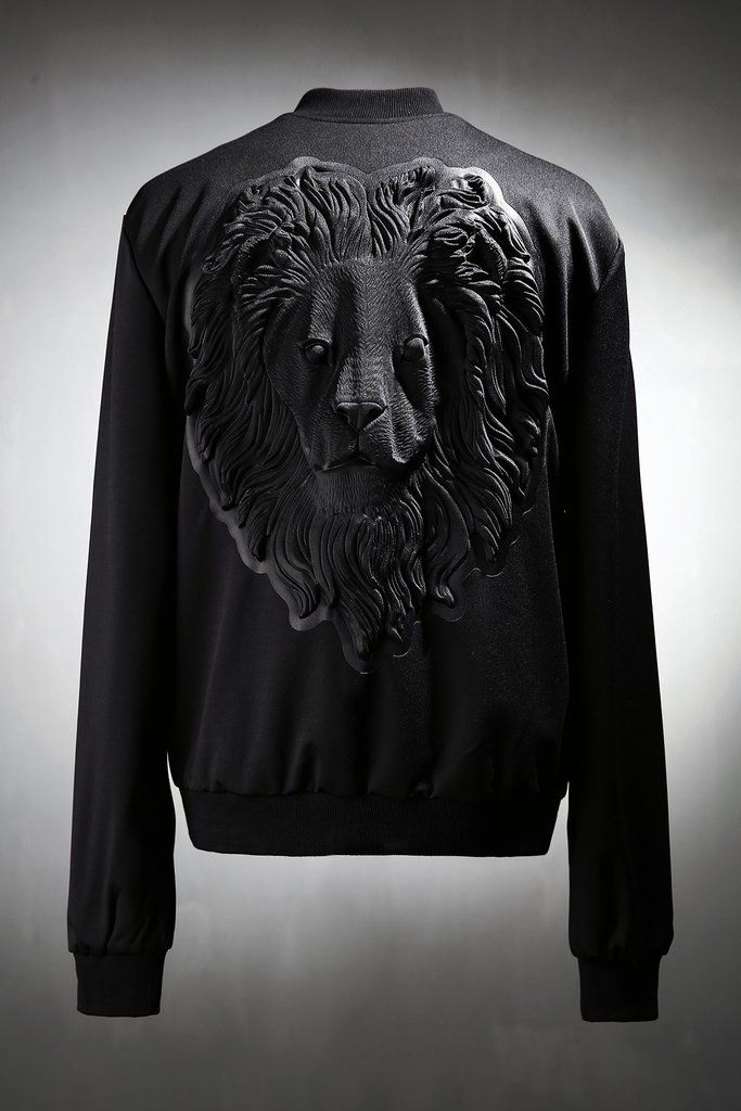 Lion Embossing Bomber Jacket