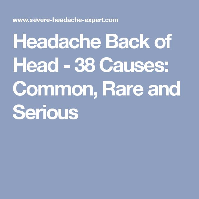 Pain in the back of the head: 5 causes with treatment
