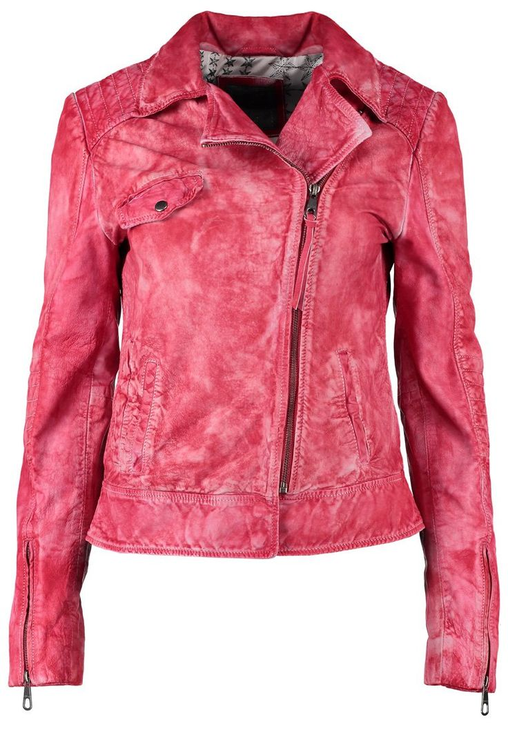 Guess AGDA Leather jacket red