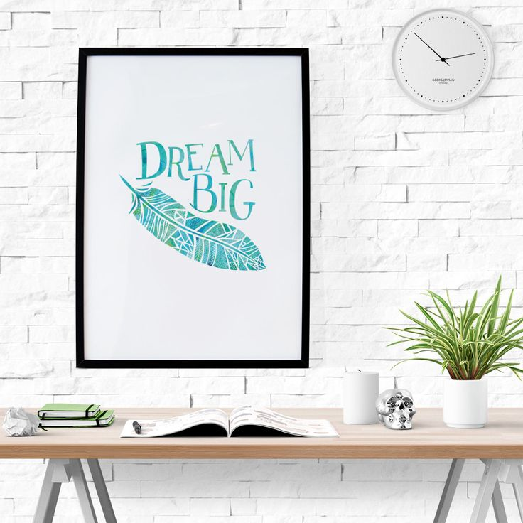 New to HandmadePrintables on Etsy: Dream Big Poster and Card - Wall Art & Home Decor (7.00 GBP)