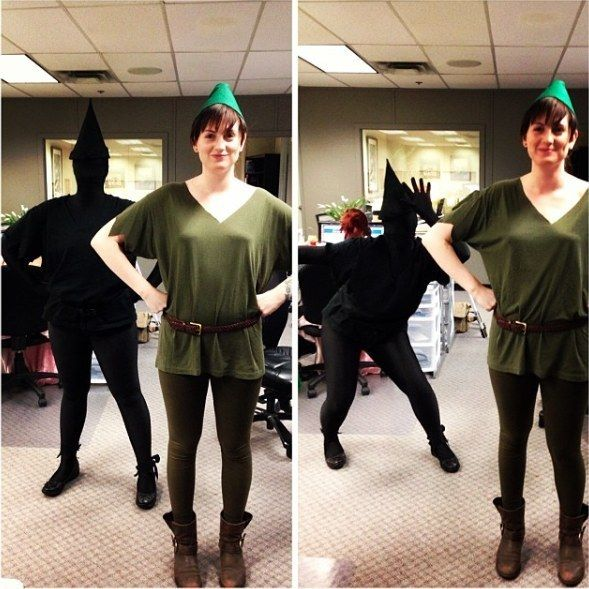 Peter Pan and his shadow | 31 Two-Person Costumes Guaranteed To Up Your Halloween Game