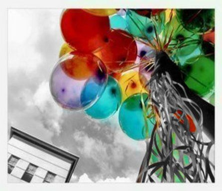 Balloons: Photos, Mary Poppins, Colors Photography, Happy, Rainbows, Black White, Desktop Wallpapers, Balloons, Colours