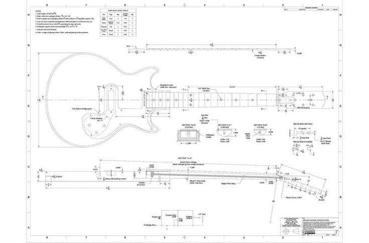 Gibson Melody Maker Guitar Templates In 2020