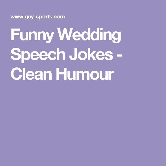 Funny Wedding Speech Jokes